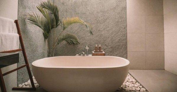 Desain Kamar Mandi Simple Tropical