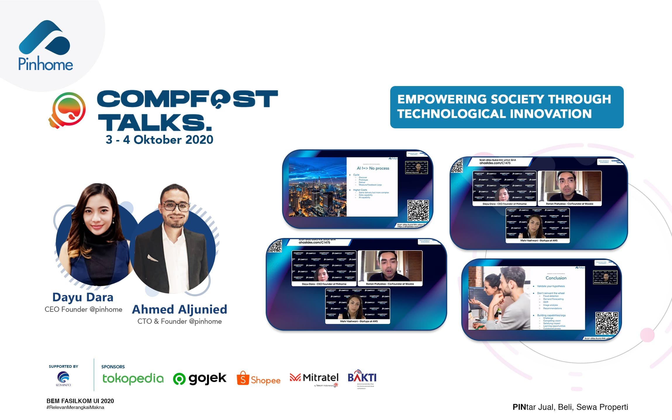 Pinhome di Comfest Talks: Membangun Startup Sosial