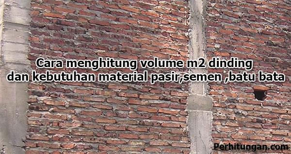 cara menghitung dinding batu bata