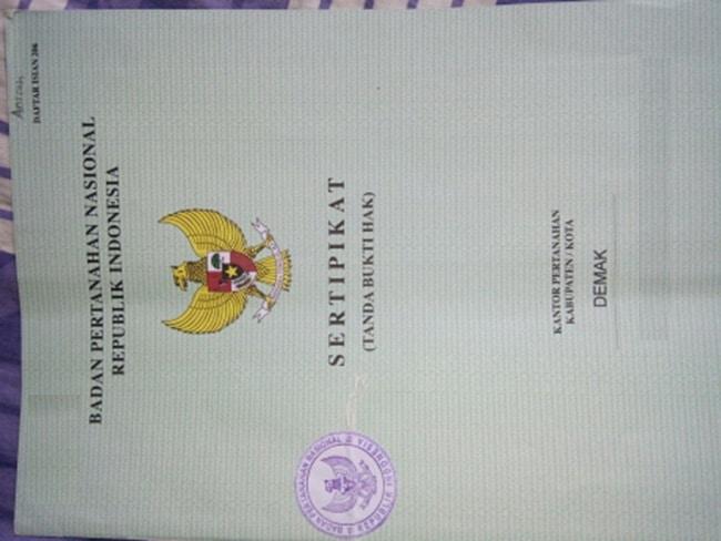 contoh sertifikat rumah
