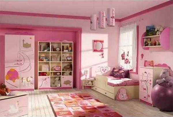 kamar tidur remaja perempuan warna pink