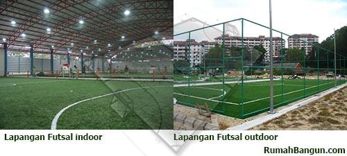 lapangan futsal indoor dan outdoor