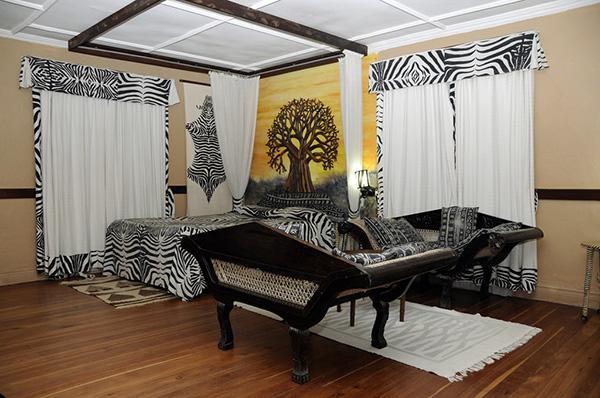 ruang tidur berkonsep zebra