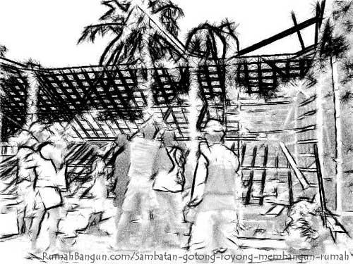 sambatan membangun rumah
