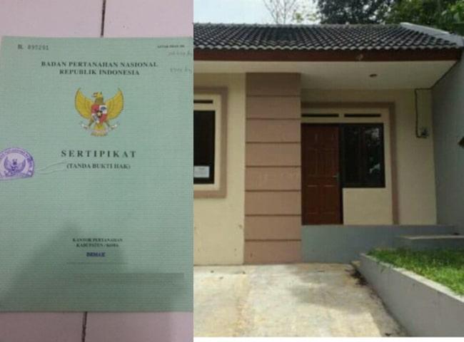 sertifikat rumah KPR