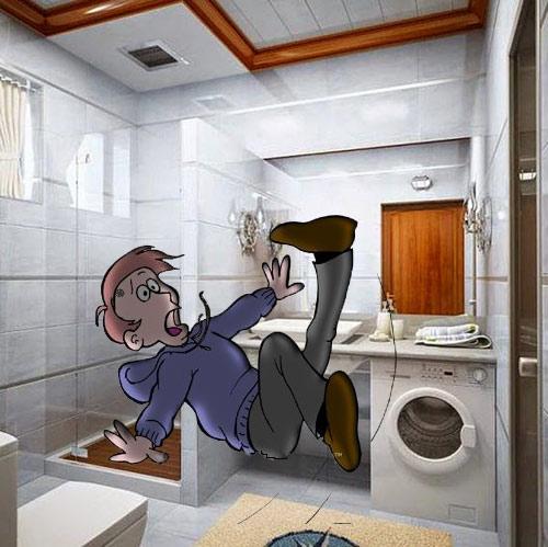 terpeleset di kamar mandi