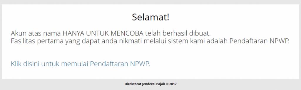 membuat NPWP pribadi online