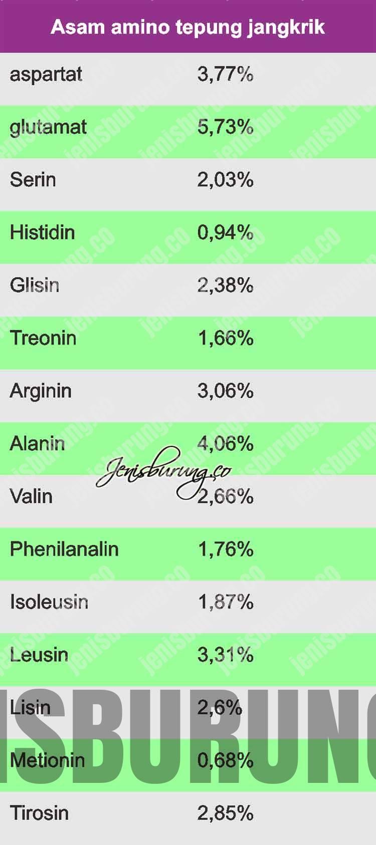 manfaat asam amino tepung jangkrik, asam amino untuk burung kicau, asam amino jangkrik kering