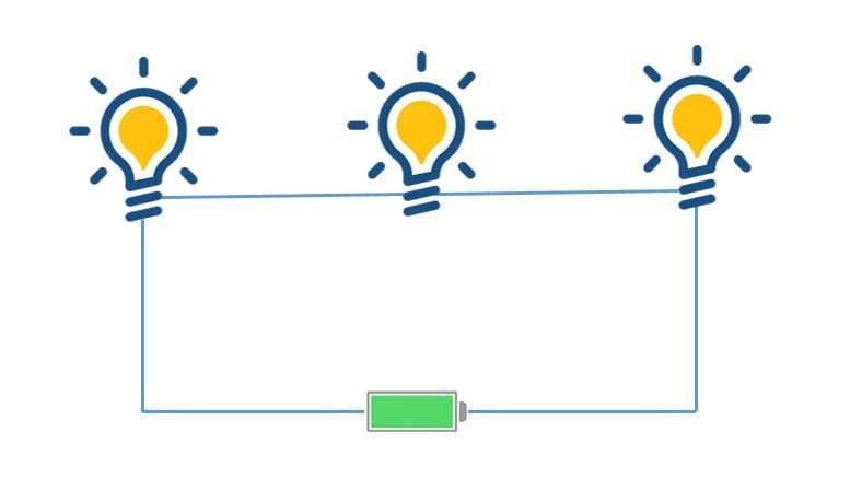 bagaimana susunan rangkaian listrik seri