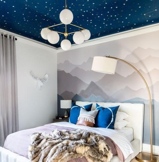 kamar warna biru