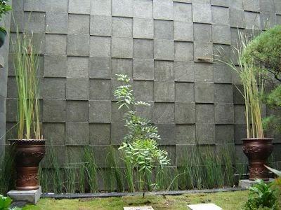 batu alam dinding teras depan