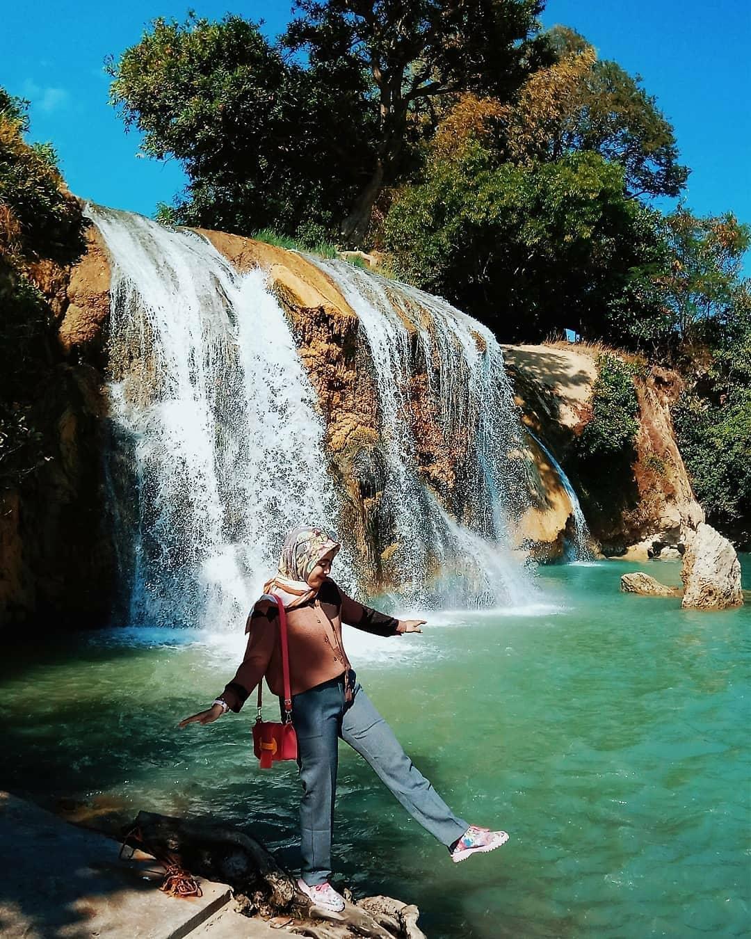asyiknya liburan di wisata air terjun toroan sampang madura