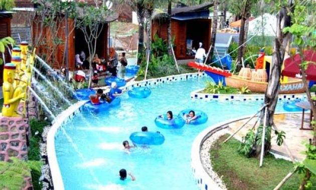 lazy river the jungle water bogor