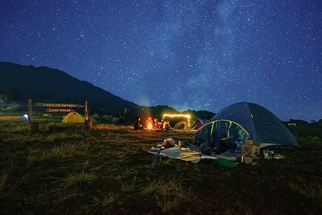 malam camping gayatri citeko bogor