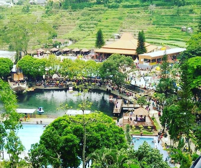 panorama alam di wisata ubalan pacet