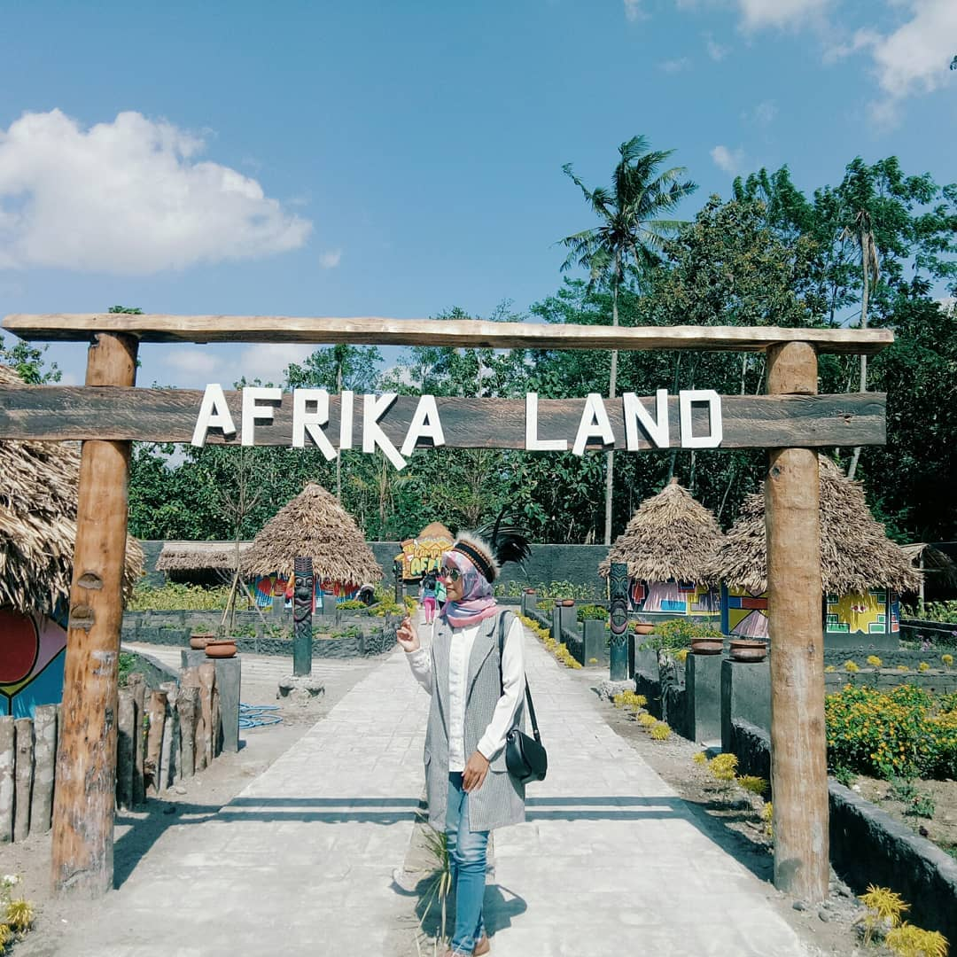 spot foto afrika land di kampung afrika blitar