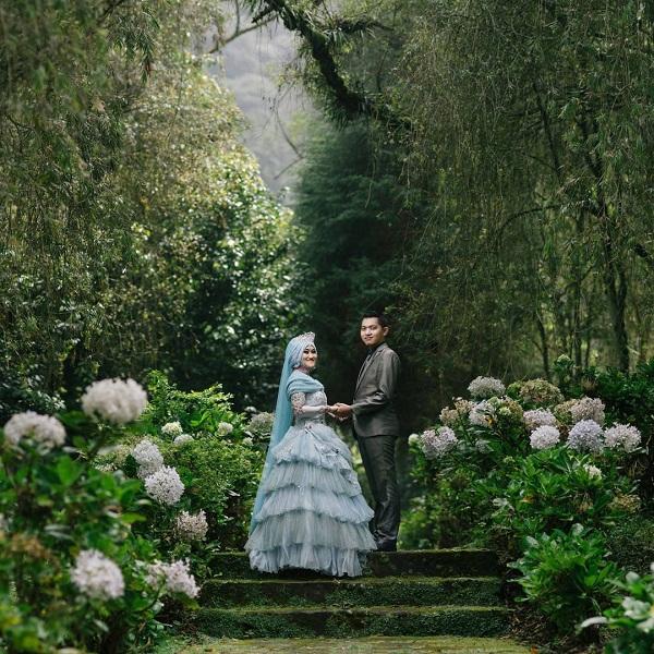 spot prewedding romantis di arboretum sumber brantas