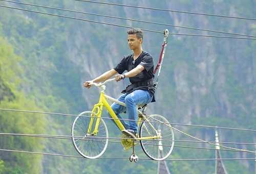 zip line bike kampung eropa lembah harau sumatera barat