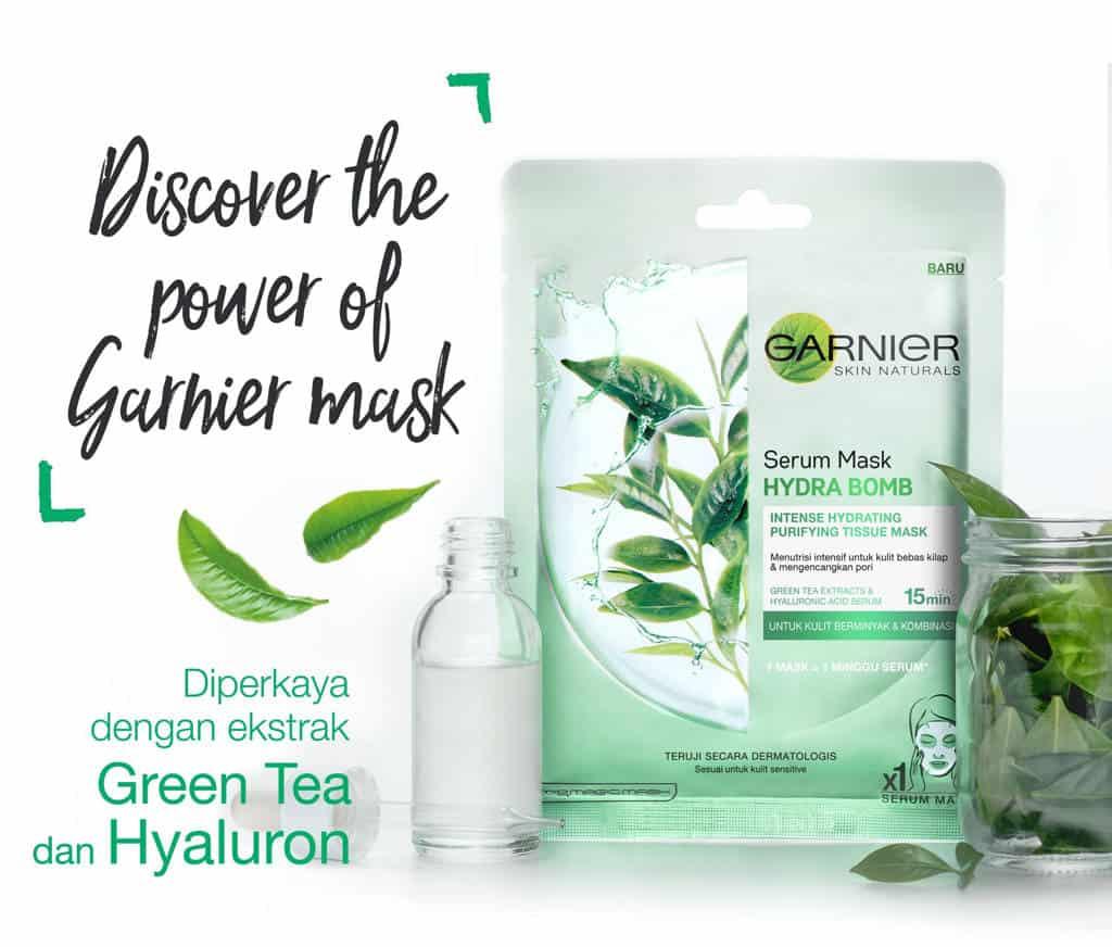 Garnier Skin Naturals Serum Mask Hydra Bomb Green Tea
