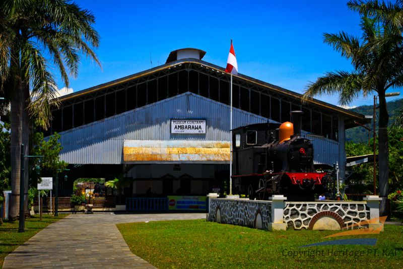 Koleksi Lokomotif di Museum Kereta Api Ambarawa