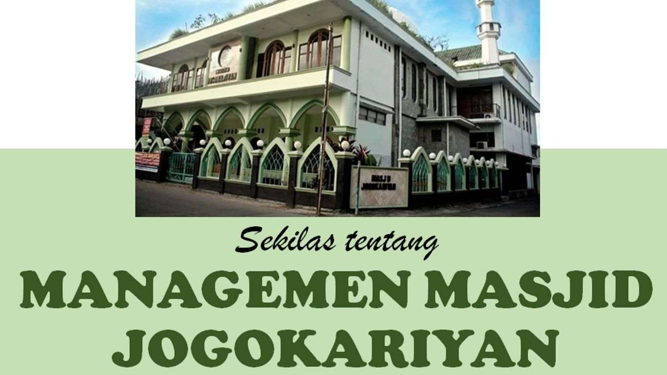 Manajemen Masjid Jogokariyan Yogyakarta