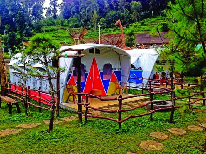 ciwidey valley resort glamour  camping