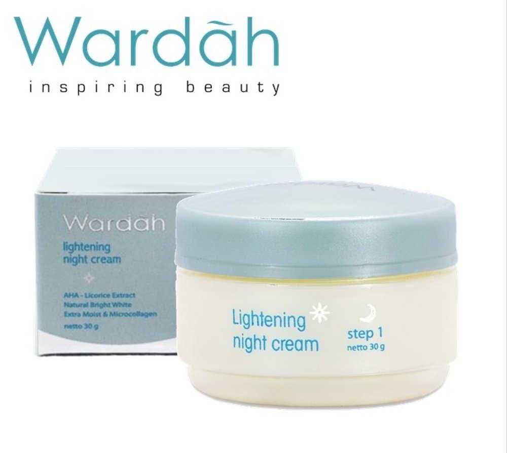 Wardah Lightening Night Cream Step 1