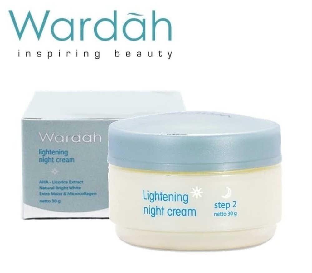 Wardah Lightening Night Cream Step 2