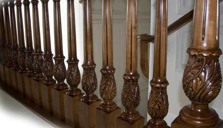 baluster kayu